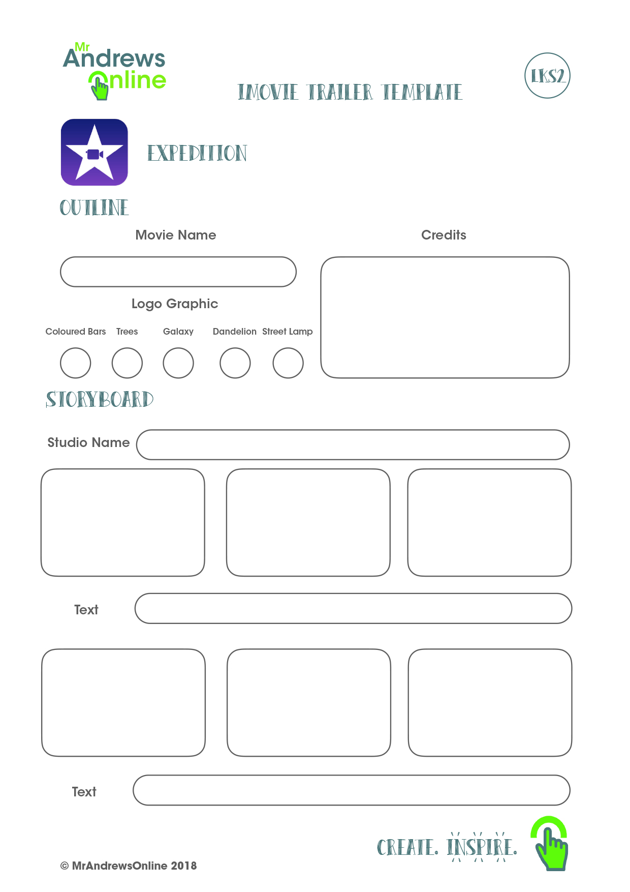 Imovie Trailer Template Page 2 Copy Mr Andrews Online
